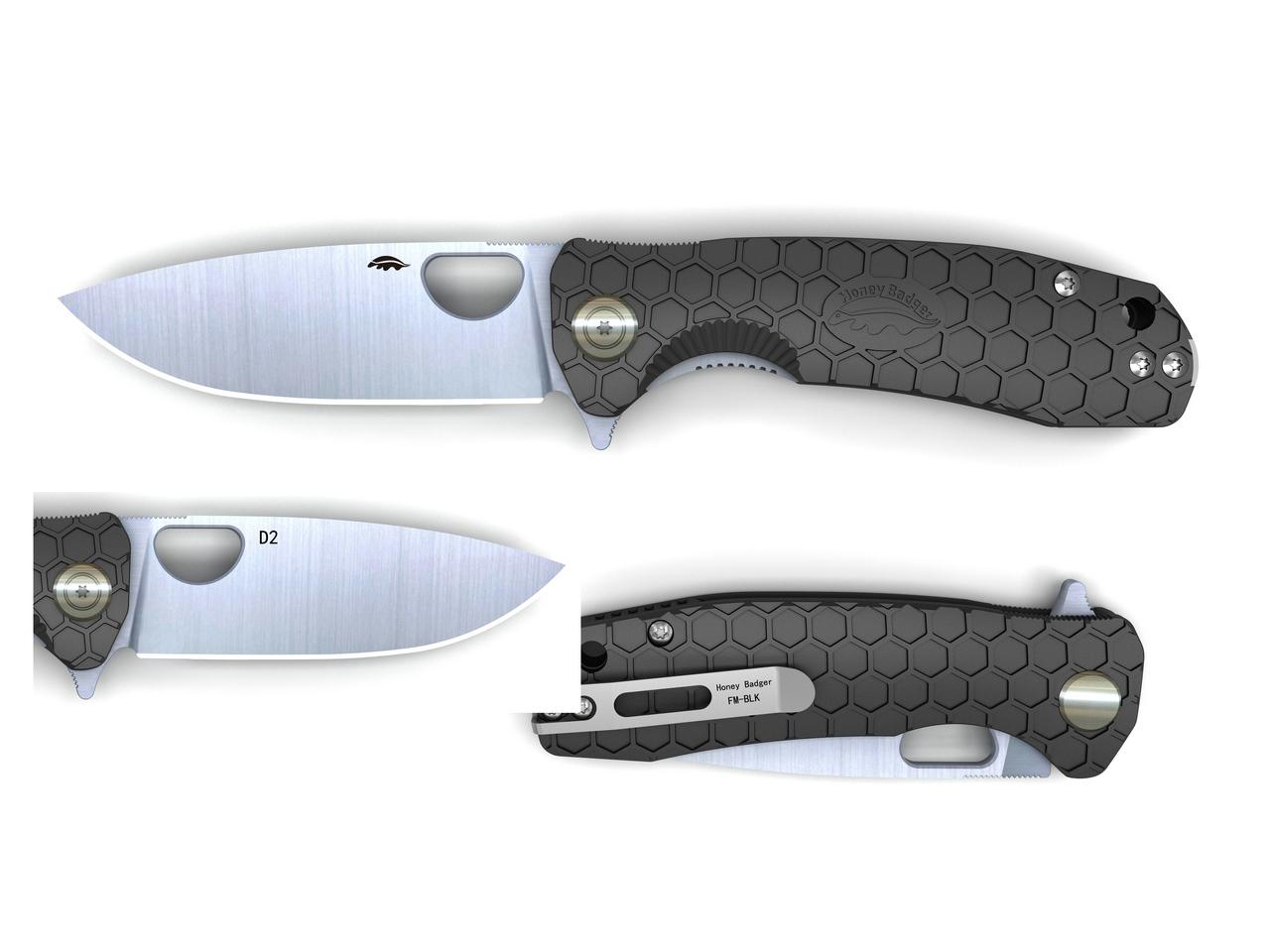 HONEY BADGER Flipper D2 L/R HBS Medium (Black)