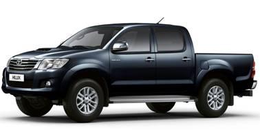 Toyota Hilux D/C 2005-2016 TPE Floor Liners (GREY)