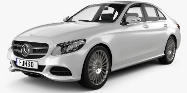 Mercedes-Benz C-Class (W205) 2014-Present Sedan TPE Boot Liner